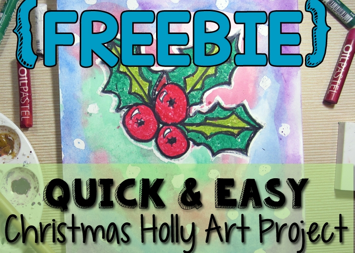 Quick And Easy Christmas Holly Art Project
