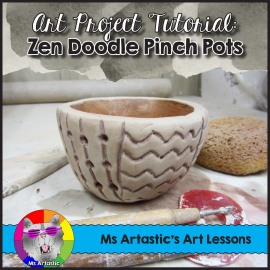 ceramics zen doodle pinch pot art project for your classroom ms