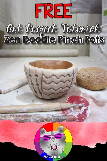 Zen Doodle Pinch Pot