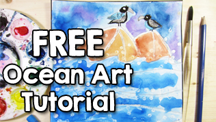 FREE Ocean Art Tutorial for Kids