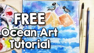 FREE Ocean Art Tutorial for Kids
