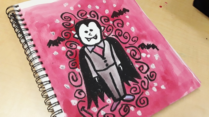 Learn How to Create this Halloween Vampire Art Project in your Classroom for Art Teaching Success! Plan quickly and teach confidently. Click to see this art tutorial! Art Teacher | Art Teacher Resource | Art Projects for Kids | Elementary Art Project | Middle School Art Project | Primary Art Project | Art Teacher Tips | Art Teaching Ideas | Art Education | Ms Artastic | Ms Artastic Resources