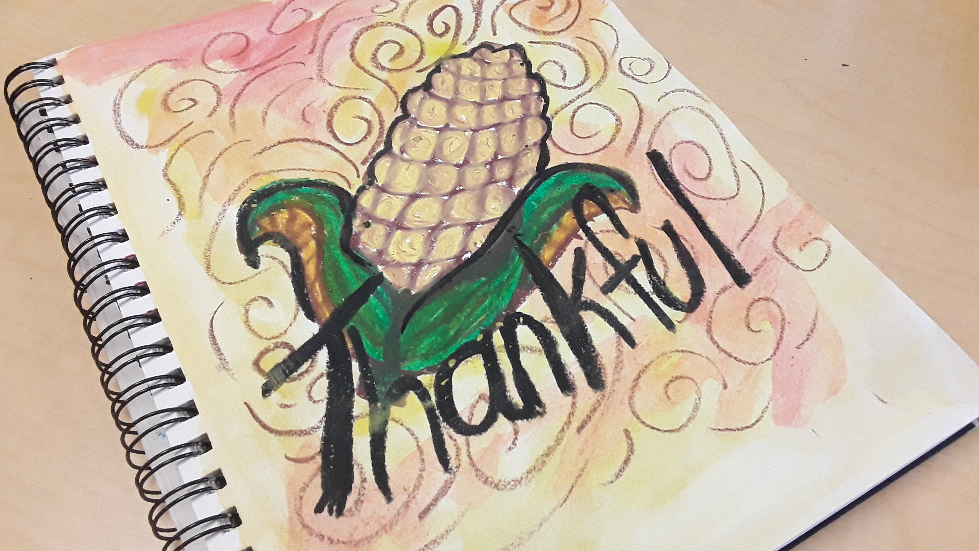 Thankful, a Thanksgiving Art Project for Kids to do in your Classroom