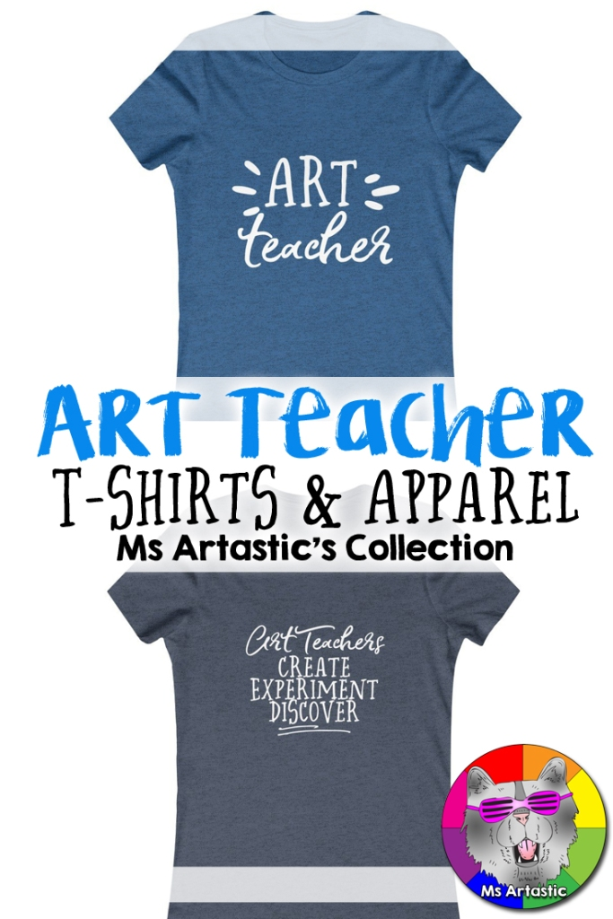 Art Teacher Shirts to wear to your classroom to allow you to inspire and have a cool teacher themed shirt while being comfortable on the job. A perfect pair to create a teacher outfit for your teacher wardrobe. Work Comfortably ♡ Teach Confidently ♡ Have the Coolest Teacher T-Shirt. A perfect solution for a busy teacher who needs to pick an outfit quick! Teacher Shirts | Art Teacher Shirts | Teacher Tees | Teacher Outfit | Teacher Wardrobe | Teacher daily | Teacher Lifestyle | Teacher Shopping | Teacher in Training | New Teacher | Ms Artastic's Collection | Ms Artastic | Art Teacher Wardrobe | Art Teacher Outfit | Teacher Mugs | Teacher Accessories | Back to School Teacher Outfit
