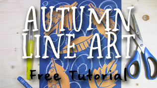 Autumn Leaves Line Art Tutorial & FREE DOWNLOAD