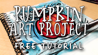 Autumn Pumpkin Art Project Tutorial