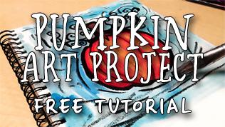 Autumn Pumpkin Art Project Tutorial