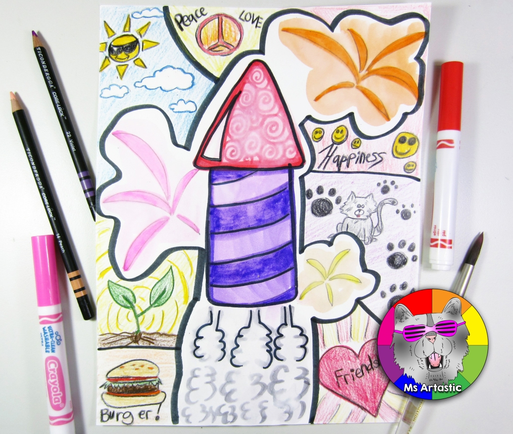 Start the New Year off in your classroom in an artastic way! Engage your students with art ideas that are perfect for goal setting, practicing drawing skills, and getting creative at the start of the New Year. Try these 5 New Years Art Ideas in your classroom or at home to get your creative juices flowing. Ms Artastic #artteacherideas #newyearsart #newyearsartforkids